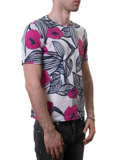 Z Zegna Printed Cotton T Shirt T Shirts Vm372 Zz630s 6s1 Ikrix by Z Zegna Contrasting Flower Print T Shirt T Shirts Vi330 Zzn6a5 687