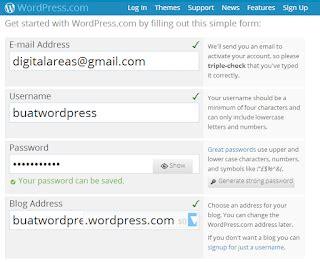 cara membuat blog di wordpress 2015 cara membuat blog gratis di wordpress com dagreenwing