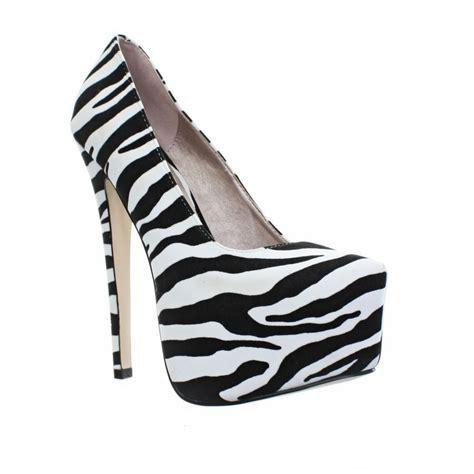 high heel platform stiletto animal zebra print