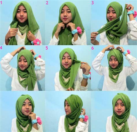 tutorial hijab segi empat dua lapis tips praktis memakai hijab modern segi empat terbaru 2016