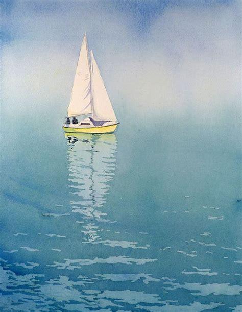 sailing boat watercolour 1 ocean art sailing poster nautical artwork lake artwork