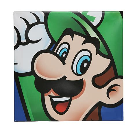painting mario mario brothers canvas exclusive thinkgeek