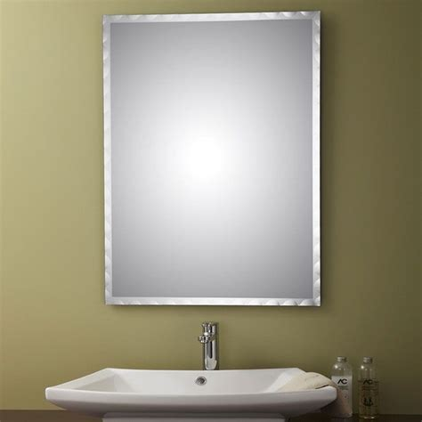 decoraport frameless rectangle bathroom vanity wall