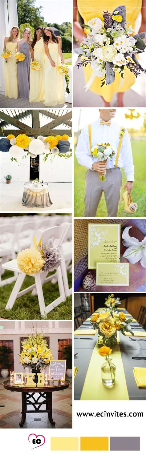 best 25 yellow grey weddings ideas on yellow wedding colors wedding decoration