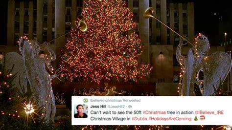 rockefeller christmas tree arrives in dublin and we feel