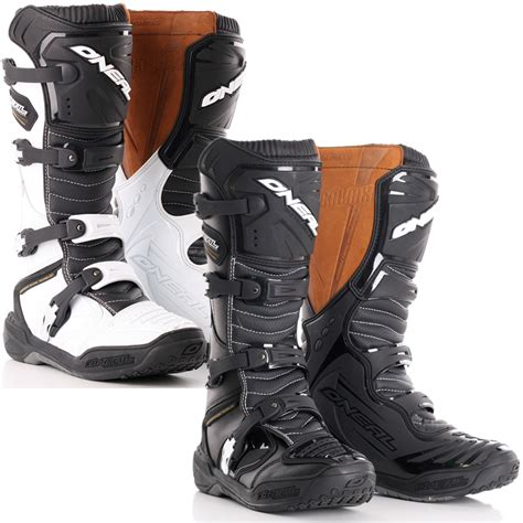 leather motocross boots oneal element 3 profit road enduro dirt bike leather