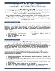 Structural Draftsman Sle Resume by Luck With Our Junior Structural Engineer Resume Sle