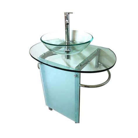 Kokols Pedestal Combo Bathroom Sink In Clear Wf 20 The Home Depot Bathroom Vanity Sink Combo
