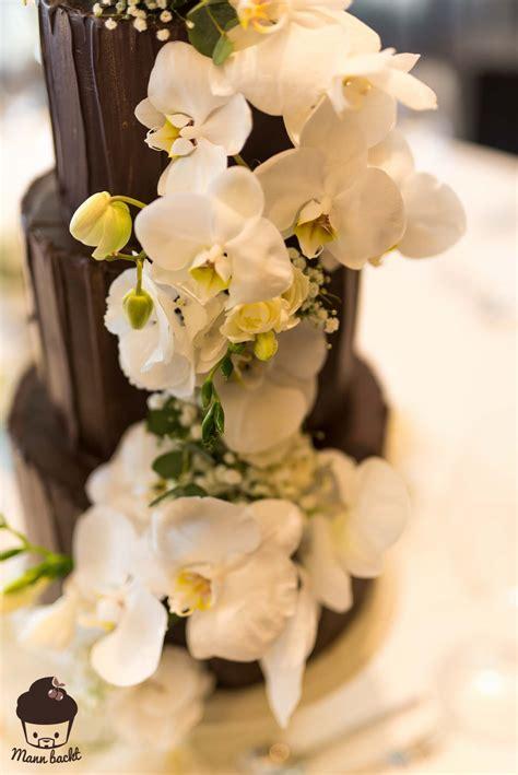 Hochzeitstorte Orchidee by Schokoladen Hochzeitstorte Mit Orchideen Mann Backt