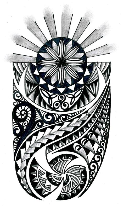 polynesian tribal design with celtic elements by