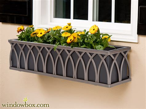 Wrought Iron Planters Window Boxes by The Arch Bronze Window Box Cage Square Design Wrought
