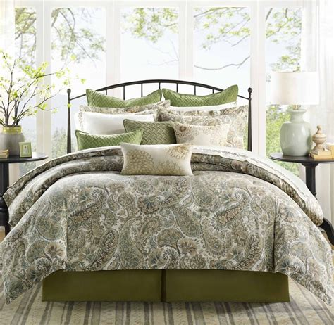 green comforters sets peachy bedspreads combined blue green motive comforter