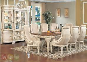 white dining room sets formal halyn antique white formal dining room set with extension leaf