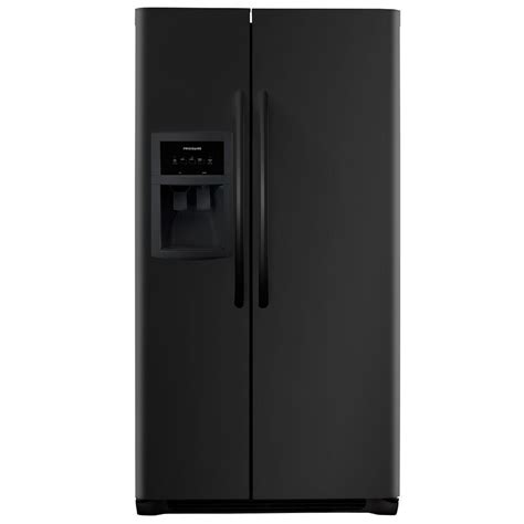 frigidaire 25 5 cu ft side by side refrigerator in black