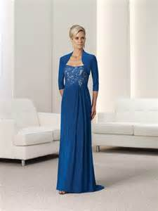 strapless royal blue lace chiffon mother of the bride
