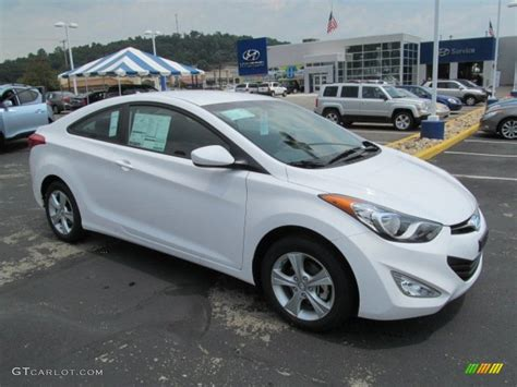 hyundai elantra white 2013 monaco white hyundai elantra coupe gs 68093087 photo