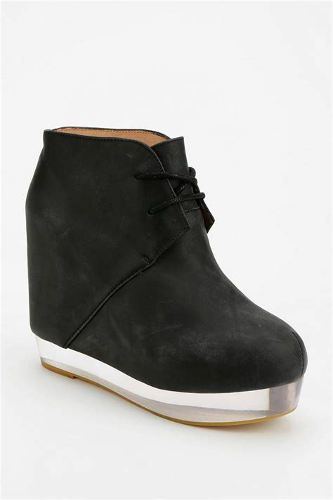 Wedges Boot 1 outfitters wedge ankle boot in black lyst