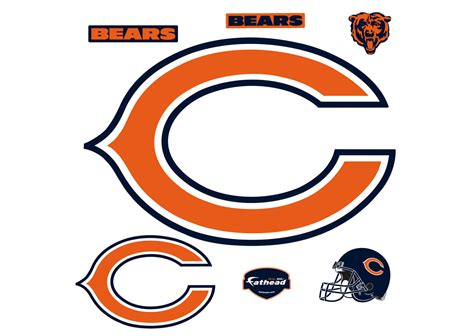 C Bears chicago bears quot c quot logo wall decal shop fathead 174 for
