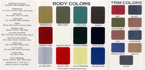 paint colors for jaguar jaguar colors 1974 jaguar