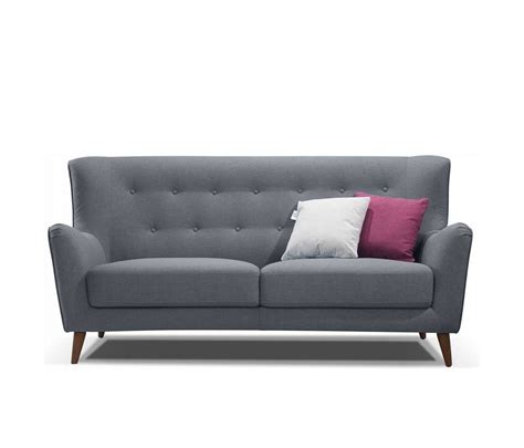 Retro Grey Button Tufted Sofa Ds 076 Fabric Sofas Gray Tufted Sofa
