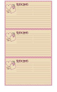 Primitive Recipe Card Template by Primitive Recipie Card Pie Primitive Recipe Cards 4x6