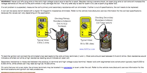how to test a coil resistor points and duraspark ignition systems info the ford torino page forum page 1