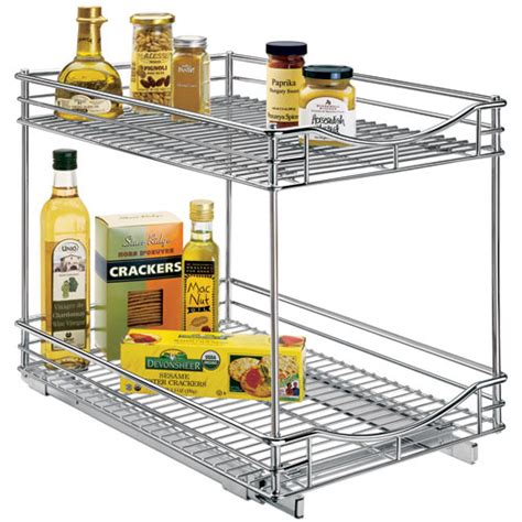 sliding cabinet organizers kitchen pull out kitchen organizer 14 inch in pull out baskets