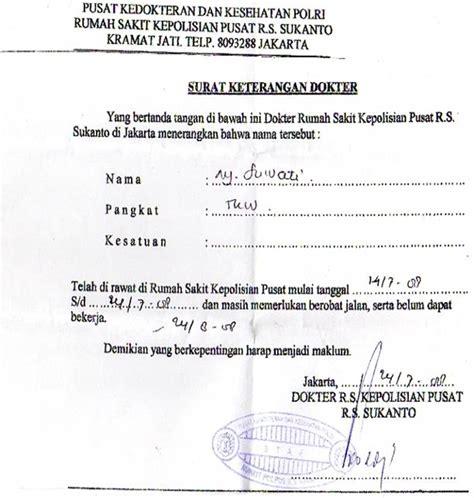 sakit dari dokter contoh surat keterangan sakit dari dokter contoh