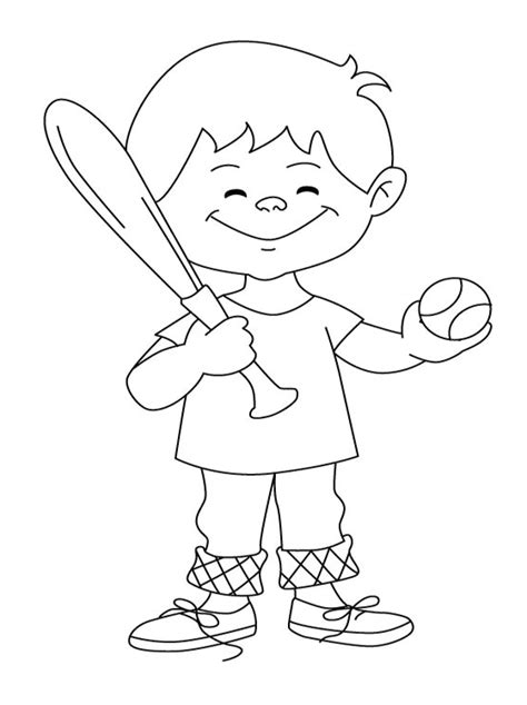 kids page baseball coloring pages download free