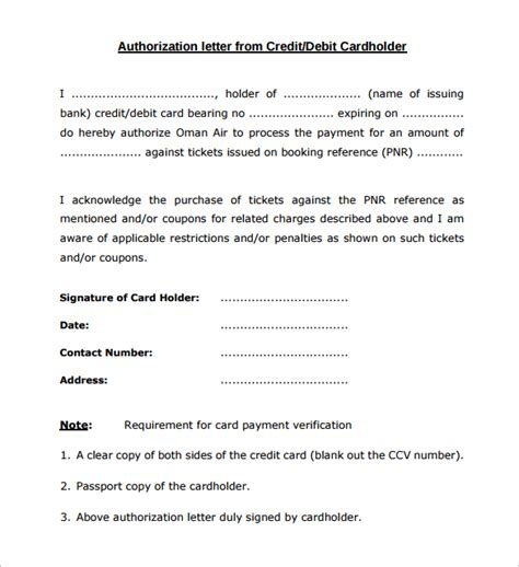 authorization letter for clearance letter of authorization form 19 sles exles format
