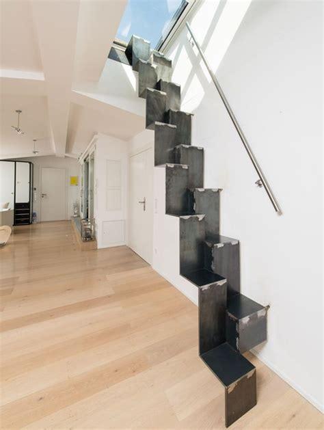 faltwerktreppe stahl design raumspartreppe 1 0 spitzbart treppen
