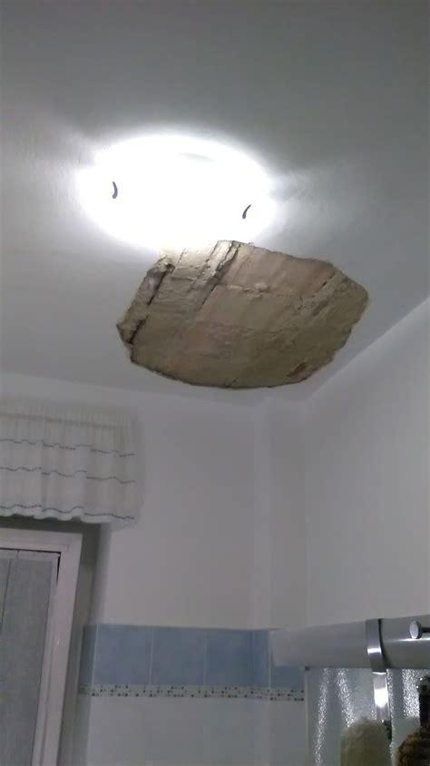 intonaco soffitto ripristino intonaco di soffitto bagno 6mq instapro
