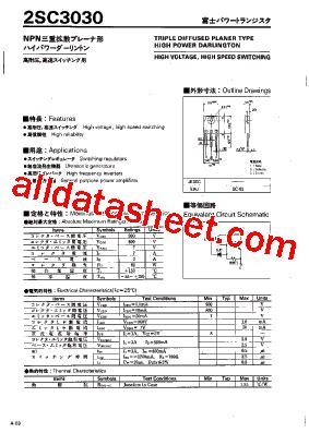 et191 transistor datasheet 2sc3030 datasheet pdf fuji electric
