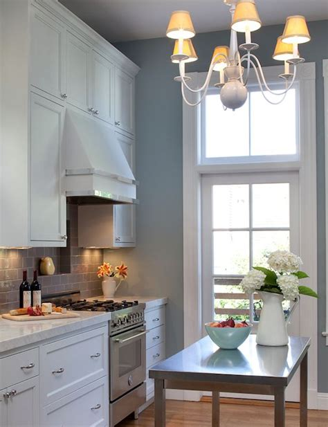 white kitchen cabinets blue walls kitchens white kitchen cabinets marble countertops gray