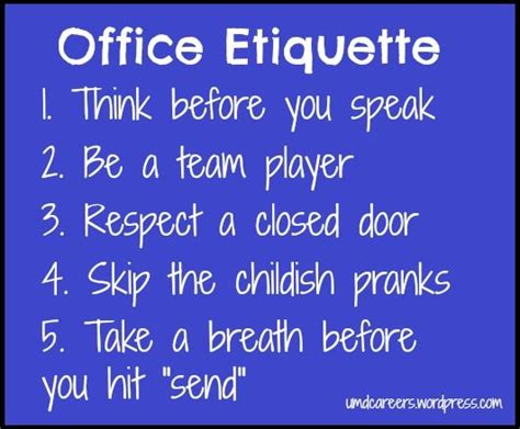 7 Work Etiquette Tips by 32 Best Images About Office Etiquette On