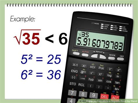 calculator root how to calculate a square root by hand with calculator