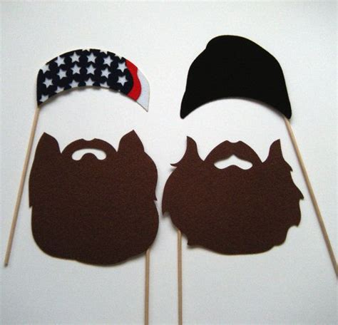 free printable duck dynasty photo booth props duck dynasty photo booth props on a stick by kittydunecuts