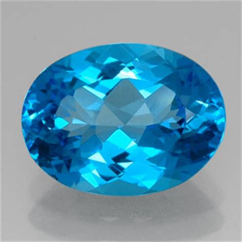 topaz 15 carat oval from brazil gemstone