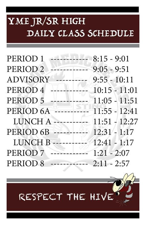 daily class schedules yellow medicine east middlehigh school