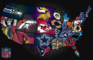 Nfl Team Map Of The United States by Image Gallery Nfl Us Map