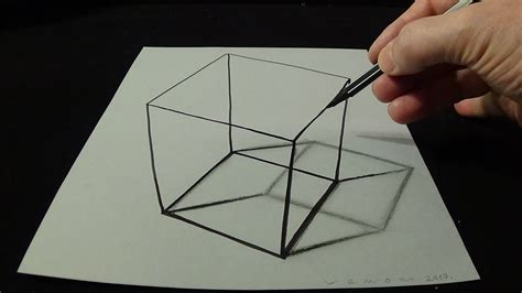 3d drawing a simple cube no time lapse how to draw 3d
