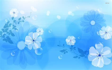 Blue Floral Wallpapers Floral Patterns Freecreatives Blue Flower Powerpoint Backgrounds Hd Free Wallpaper
