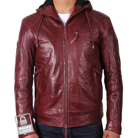 leather biker jackets for sale men s burgundy leather bomber jacket majento