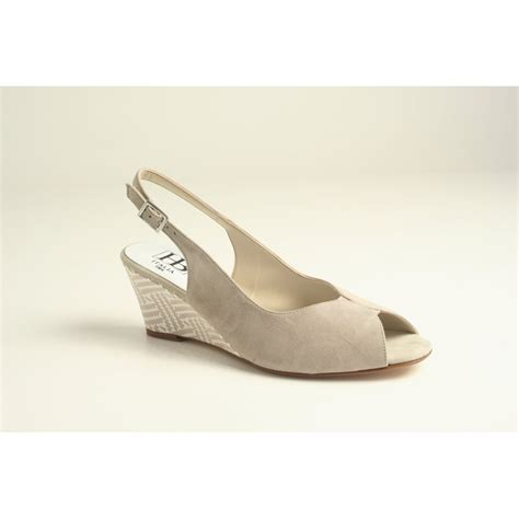 hb hb sling back sandal in soft taupe nubuck leather with
