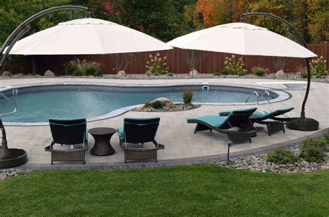 Montgomery Ny Backyard Oasis Features Unilock Pavers