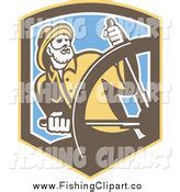 Helm Chip Retro royalty free occupation stock fishing designs