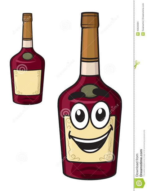 cartoon alcohol bottle cartoon smiling alcohol bottle stock vector image 43620084