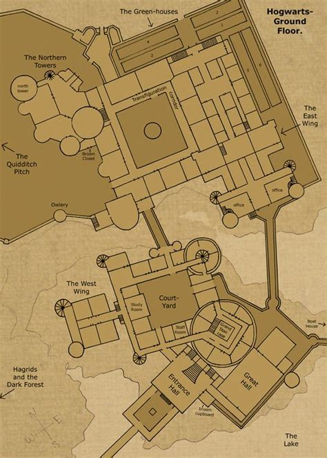 famous castle floor plans theorized floor plan of hogwarts castle hogwarts ground