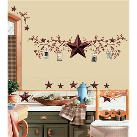 country stars decorations for the home country stars berries wall decals berry stickers rustic