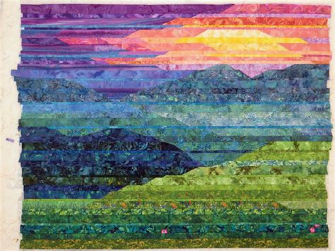 Mountain Landscape Quilt Fabric Cathy Geier S Quilty Blue Ridge Mountain
